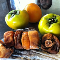 So sad. :( having allergy issues w/ persimmons. Can't eat any of dad's homegrown and dried persimmons. #stupidallergies #boo
