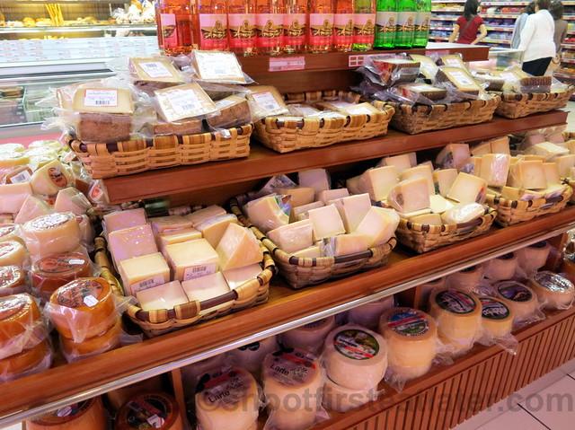 supermarket in San Sebastian- cheese