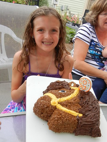 Jana and her horse cake