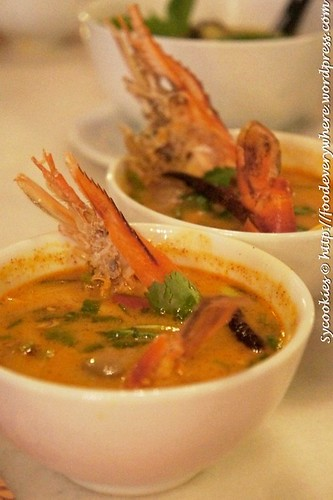 2.Tom Yam Goong- Spicy Tom Yam Soup with River Prawn RM 15.90@goodevening bangkok (1)
