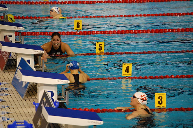 Veldhuis won the Rijeka 2008 women's 100 free