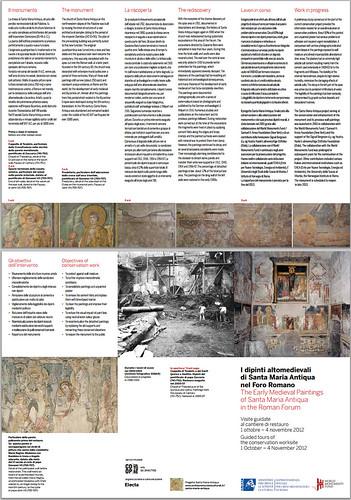 ROMA - Apertura straordinaria del cantiere di restauro del ciclo di affreschi altomedievali di Santa Maria Antiqua nel Foro Romano, SSBAR/MiBAC (01/10/2012).[pdf / ITALIANO & ENGLISH]. by Martin G. Conde