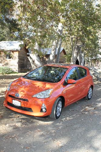 Toyota Prius C in Habanero color
