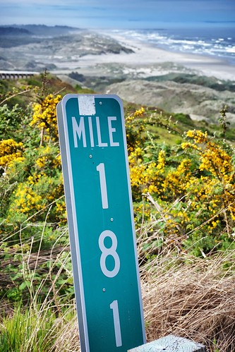 Mile Marker 181 on the Pacific Coast Scenic Byway.  Near Florence, OR.