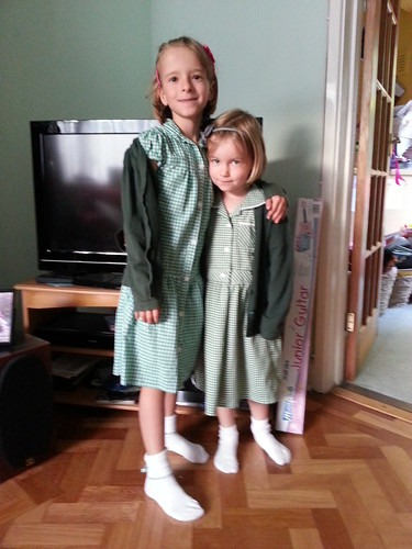 Millie & amber, first day of school 2012
