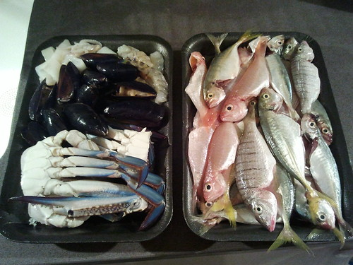 Seafood and Fish Platter Before