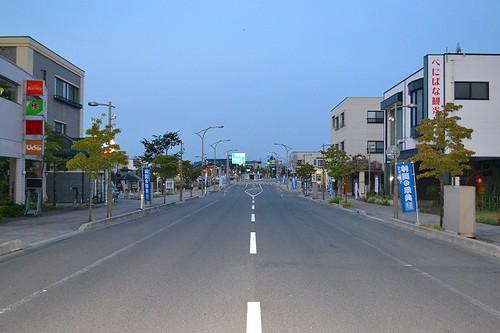 4時の寒河江駅前
