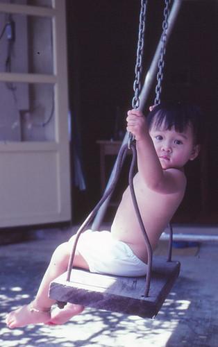 1981 - Me on swing 1