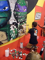 LEGO Booth TMNT Mural assembly