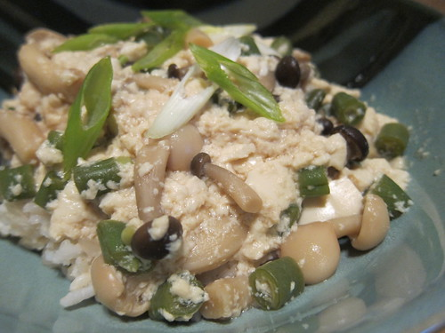 Japanese Mushroom and Tofu Rice Bowl