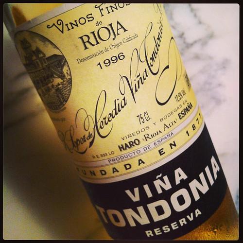 Lopez de Heredia Vina Tondonia Blanco  Reserva 1996