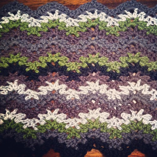 Two #color sequences done on my #crochet #blanket