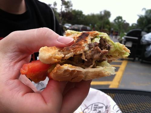 Wiener cheese burger