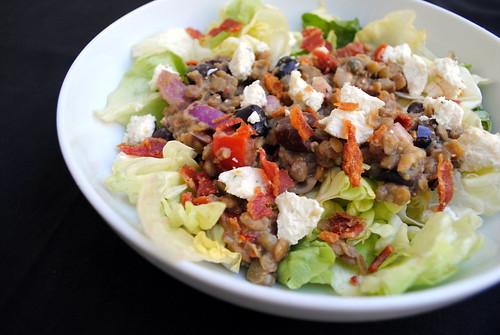 Lentil Goat Cheese Salad