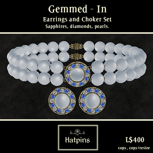 Hatpins - Gemmed-In Set - Sapphire and Pearl (copy_mod)