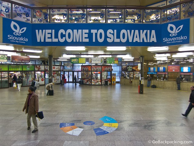 A warm greeting at the Bratislava train station