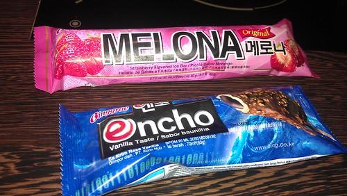 Korean Ice Cream Melona and Encho