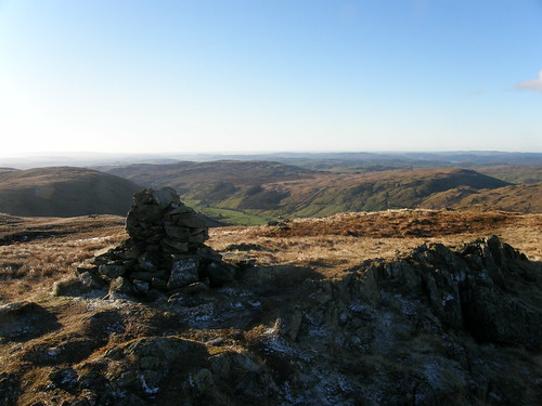 Looking down to Longsleddale from Grey Crag Summit