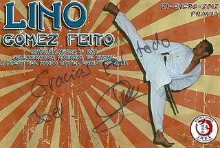 Foto firmada por Lino Gomez Feito