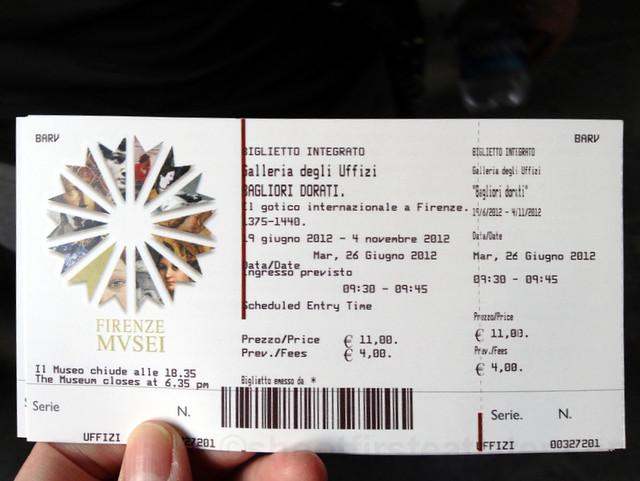Uffizi ticket
