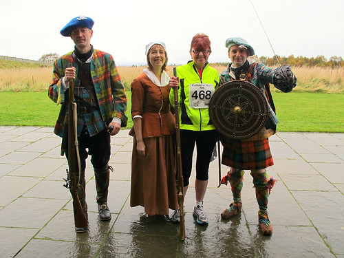 Getting ready to do battle - with the 10K Culloden run!