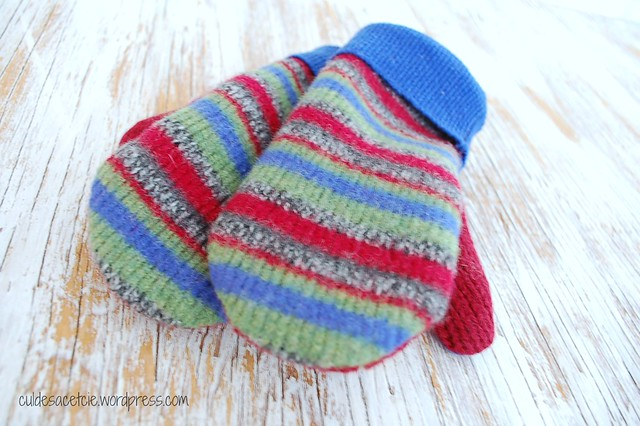 eco friendly recycled sweaters mittens