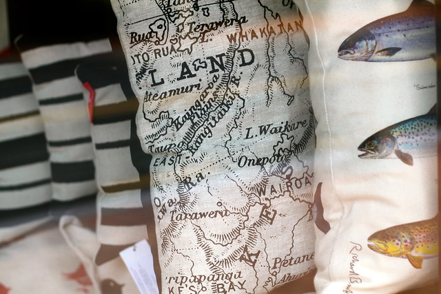 Tuesday: I do quite like these map cushions