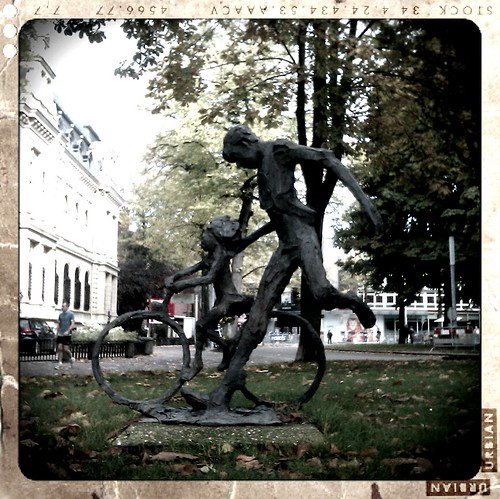 Bicycle statue in Groningen