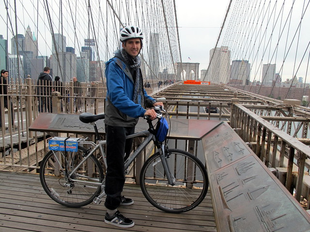 Brooklyn Bridge Cyclist