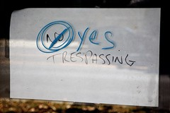 No (Yes) Trespassing