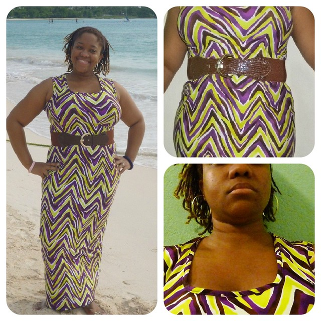 Chevron Multi Maxi Dress Collage