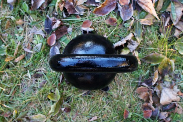 Kettlebell In Autumn Grass