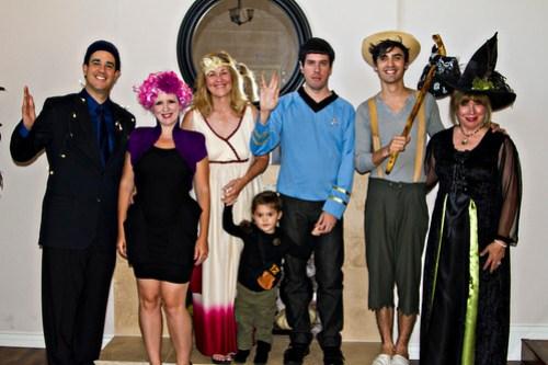 Caesar, Effie, Venus, Katniss, Spock, Huck, Witch