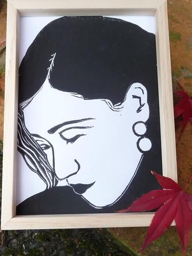 Ruan Lingyu 阮凤根 Linocut Print