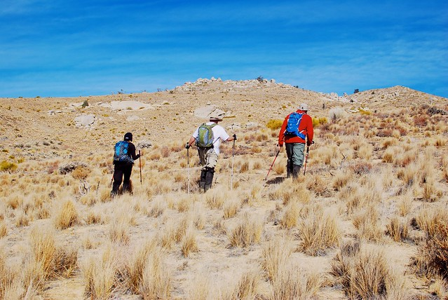 Heading up Pinyon (center) and Gold (right)