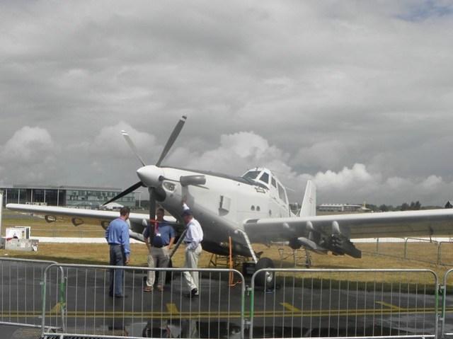 A prop at the 2010 Farnborough Airshow