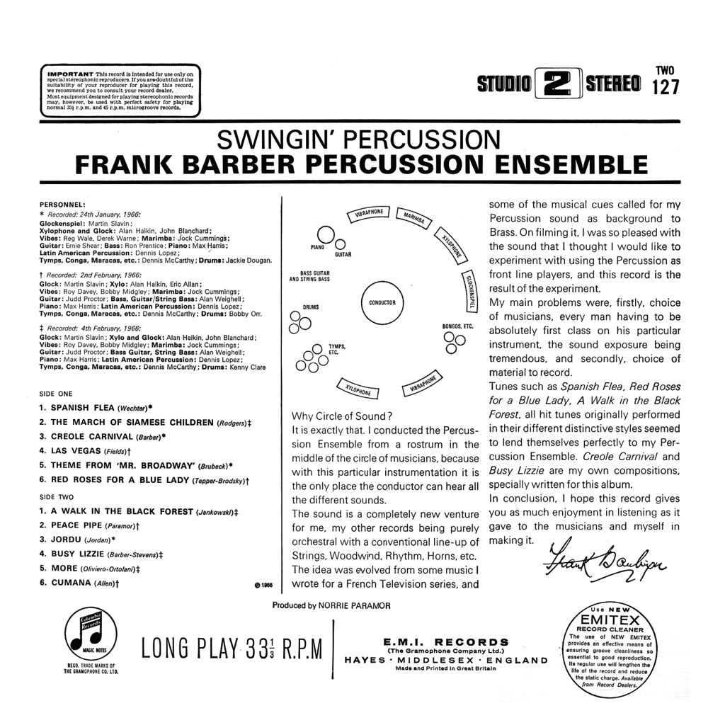 Frank Barber - Swingin' Percussion