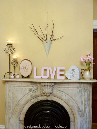 Romantic Valentine's Mantel