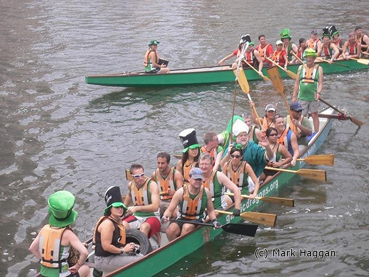 St Patrick crosses the river in Singapore