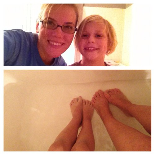Thank you Beth Moore for the amazing tip on soaking toes with your daughter. She has hot chocolate and we have laughter.
