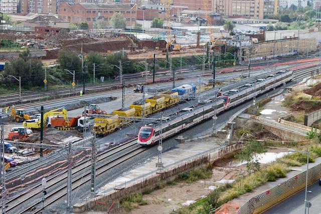 Instalación de las nuevas vías y catenaría para el AVE - Triangle Ferroviari - 21-10-12