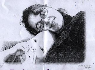 Cimmy and Boy Chuck-E Sketch