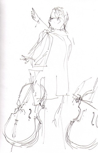 conductor and cellos