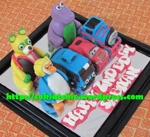 Minicake Agent Oso, minicake barney, minicake Pororo, minicake tayo the little bus, minicake cars, minicake thomas