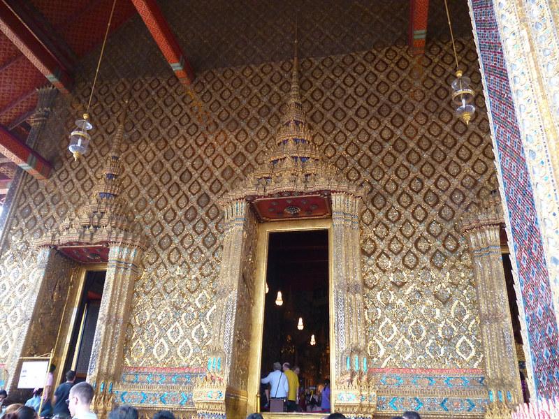 Exit of Emerald Buddha shrine at Bangkok Grand Palace
