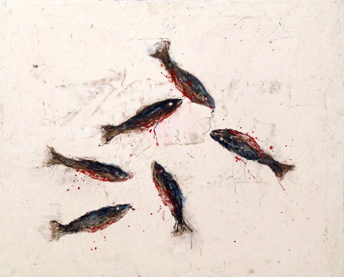 Moby Dick, Esteban Ruiz. Primeros peces abiertos, 2.700€, 55 x 75cm