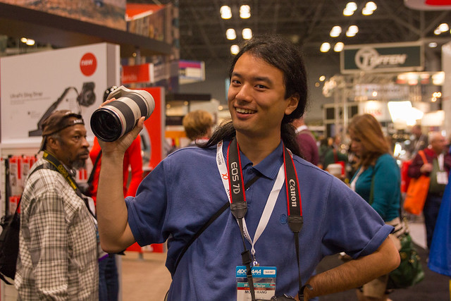 My friend holding the Canon 70mm-200mm L series f/2.8