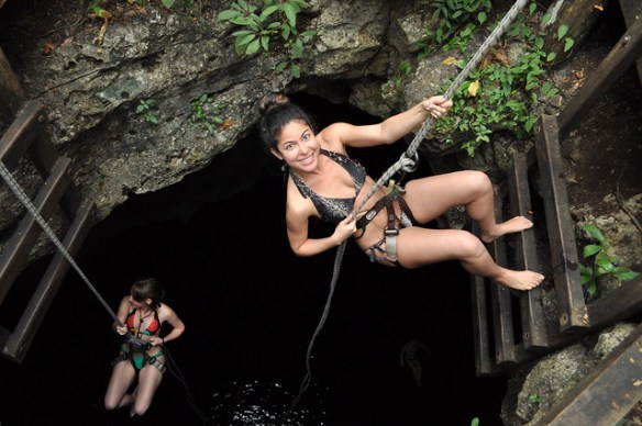 things to do in Playa Del Carmen, cenote rappelling