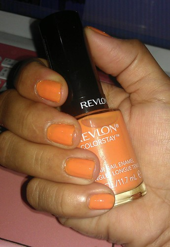 Revlon ColorStay Longwear Nail Enamel 090 Sorbet swatches