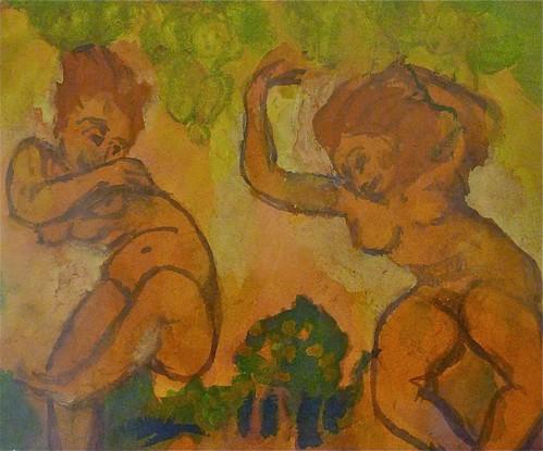 """Emil Nolde: """"Wildly dancing girls in front of a park"""" kopi"""